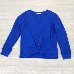Lush blue long sleeve blouse size xs
